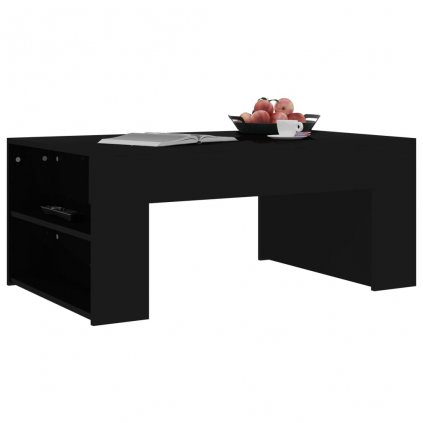 Konferenční stolek Mitchell - černý vysoký lesk | 100x60x42 cm
