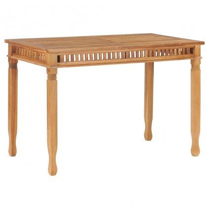 Zahradní jídelní stůl Horstess - masivní teakové dřevo  120x65x80 cm
