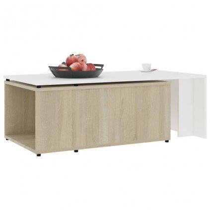Konferenční stolek Grammer - 150 x 50 x 35 cm | bílý dub sonoma