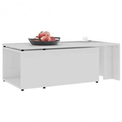 Konferenční stolek Grammer - bílý vysoký lesk | 150x50x35 cm