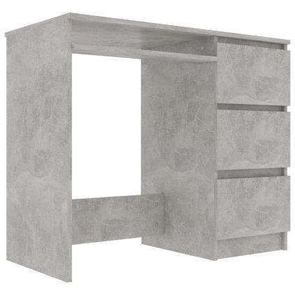 Psací stůl Wellby - dřevotříska - betonově šedý   90x45x76 cm