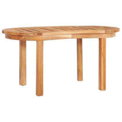 Konferenční stolek - masivní teakové dřevo | 90x50x45 cm