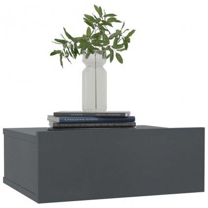 Nástěnné noční stolky Miracle - 2 ks - šedé   40x30x15 cm