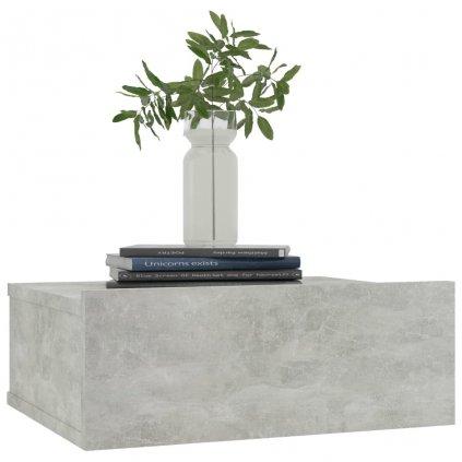 Nástěnné noční stolky Miracle - 2 ks - betonově šedé | 40x30x15cm