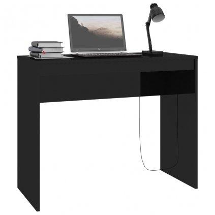 Psací stůl Claredon - černý s vysokým leskem | 90x40x72 cm