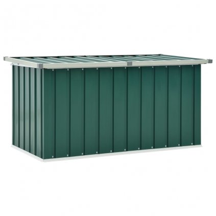 Zahradní úložný box Barnes - ocel - zelený | 129 x 67 x 65 cm