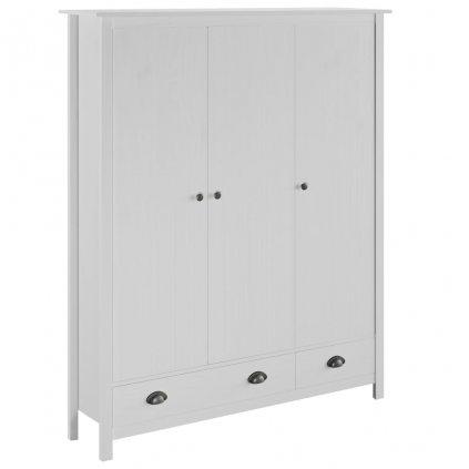 2-křídlá šatní skříň - 127x50x170 - masivní borovice | bílá