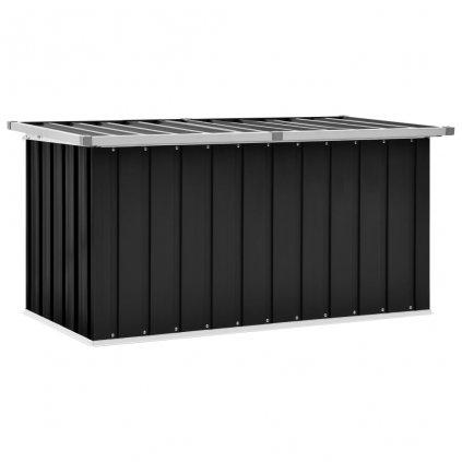Zahradní úložný box Barnes - ocel - antracitový | 129 x 67 x 65 cm