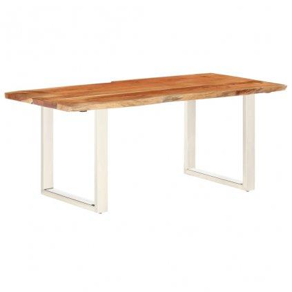 Stůl Hyder II s živými hranami - masivní akáciové dřevo - síla 3,8 cm | 180 cm