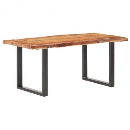 Stůl Hyder s živými hranami - masivní akáciové dřevo - síla 6 cm | 180 cm