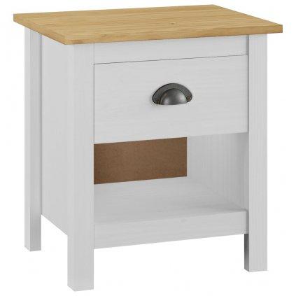 Noční stolek Jainee - masivní borové dřevo | 46x35x49,5 cm