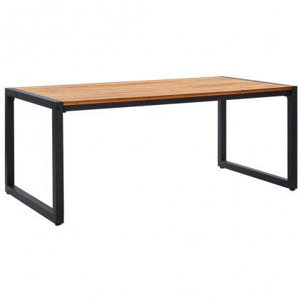 Zahradní stůl Theba s nohami ve tvaru U - masivní akácie | 180x90x75 cm