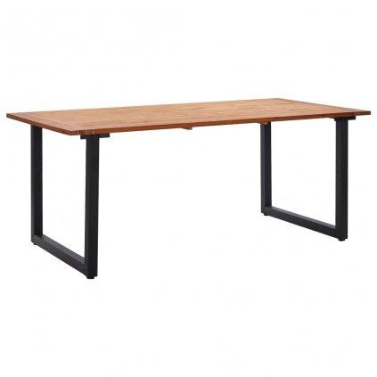 Zahradní stůl Shawmut - s nohami ve tvaru U - masivní akácie | 180x90x75 cm