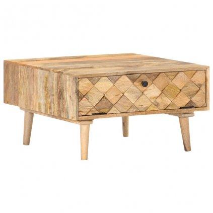 Konferenční stolek Republic - masivní mangovníkové dřevo | 68x68x38 cm