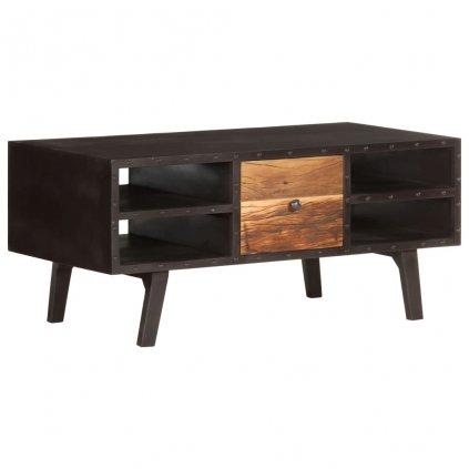 Konferenční stolek Grimass - masivní recyklované dřevo | 100x50x45 cm