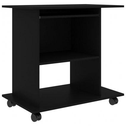 Počítačový stůl Baird - dřevotříska - 80x50x75 cm | černý