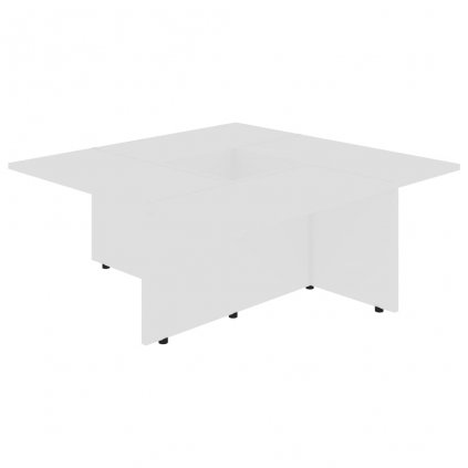 Konferenční stolek Chadron - 79,5 x 79,5 x 30 cm | bílý