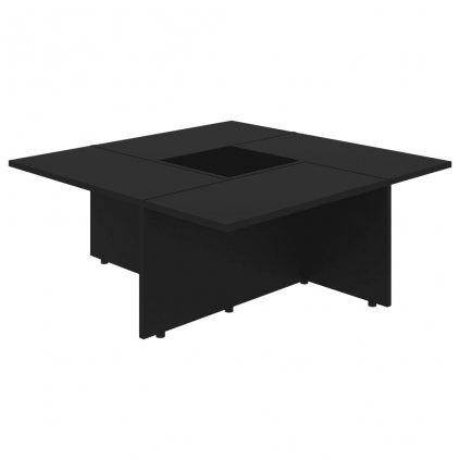 Konferenční stolek Chadron - 79,5 x 79,5 x 30 cm | černý