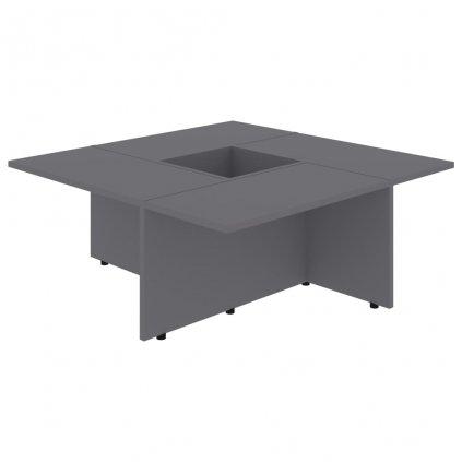 Konferenční stolek Chadron - 79,5 x 79,5 x 30 cm | šedý