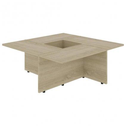 Konferenční stolek Chadron - 79,5 x 79,5 x 30 cm | dub sonoma