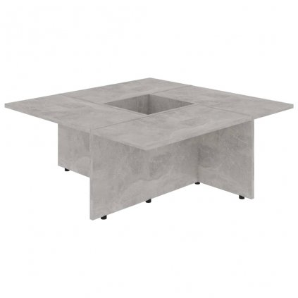 Konferenční stolek Chadron - 79,5x79,5x30cm | betonově šedý