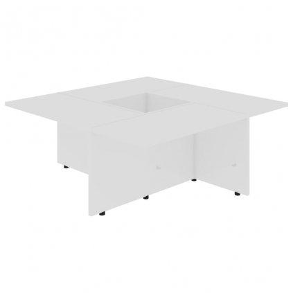 Konferenční stolek Chadron - 79,5 x 79,5 x 30 cm | vysoký lesk bílý
