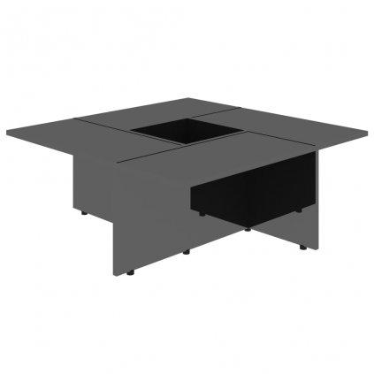 Konferenční stolek Chadron - 79,5 x 79,5 x 30 cm   vysoký lesk černý