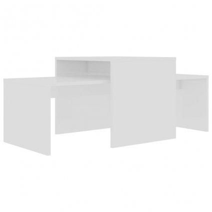 Konferenční stolky Maevas - bílé vysoký lesk | 100x48x40 cm