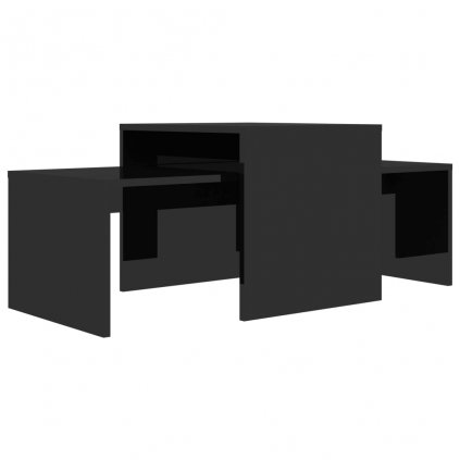 Konferenční stolky Maevas - černé vysoký lesk | 100x48x40 cm