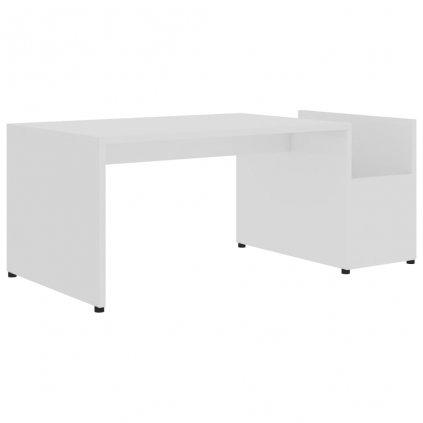 Konferenční stolek Drawin - bílý s vysokým leskem   90x45x35cm