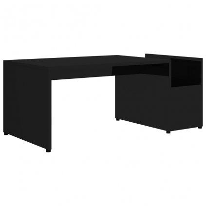 Konferenční stolek Drawin - černý vysoký lesk | 90x45x35 cm