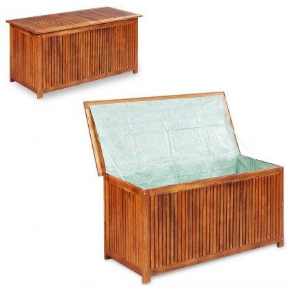 Zahradní úložný box - masivní akáciové dřevo | 150x50x58 cm