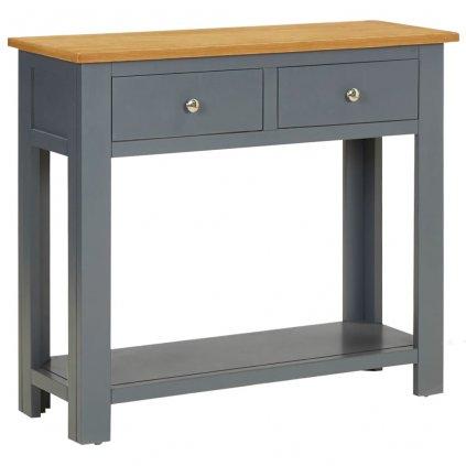 Konzolový stolek Fripp - masivní dřevo - tmavě šedý | 83 x 30 x 73 cm
