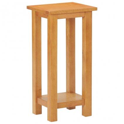 Odkládací stolek Uvalda - masivní dubové dřevo a MDF | 27 x 24 x 55 cm