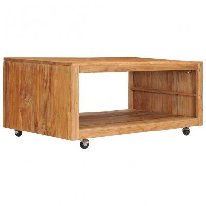 Konferenční stolek Hagen - masivní teakové dřevo | 110x60x40 cm