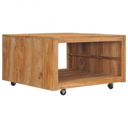Konferenční stolek Hagen - masivní teakové dřevo | 80x80x40 cm