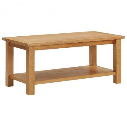 Konferenční stolek Lacorte - masivní dubové dřevo | 90x45x40 cm