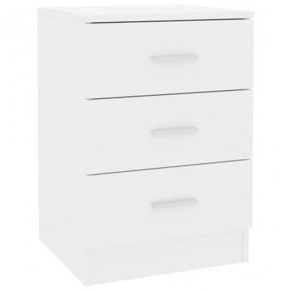 Noční stolek Como - bílý s vysokým leskem | 38x35x56 cm