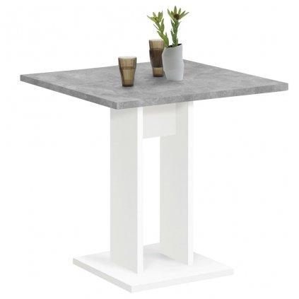 Jídelní stůl Dollores - betonově šedý a bílý | 70 cm