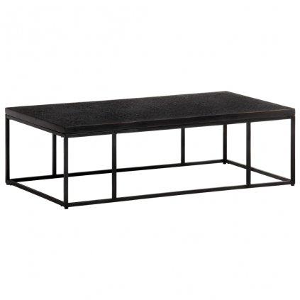 Konferenční stolek Kamiria - masivní mangovník - černý | 110x60x34