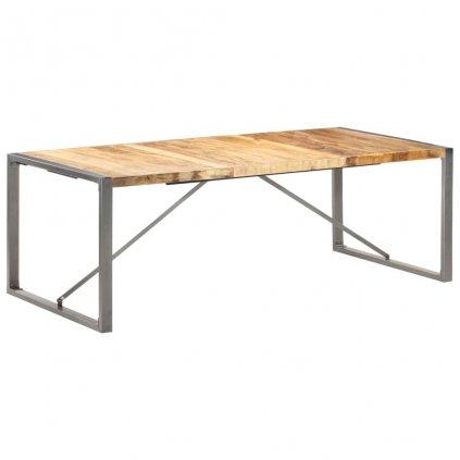 Jídelní stůl Penrite - hrubé mangovníkové dřevo | 220x100x75 cm