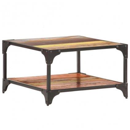 Konferenční stolek Paine - masivní recyklované dřevo | 60x60x35 cm