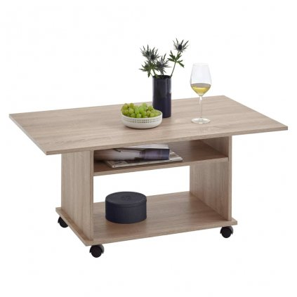 Konferenční stolek Robbey s kolečky   dubové dřevo