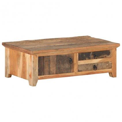 Konferenční stolek Vista - masivní recyklované dřevo | 90x50x31 cm