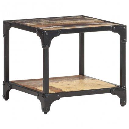 Konferenční stolek Elland - 40x40x36 cm | masivní recyklované dřevo