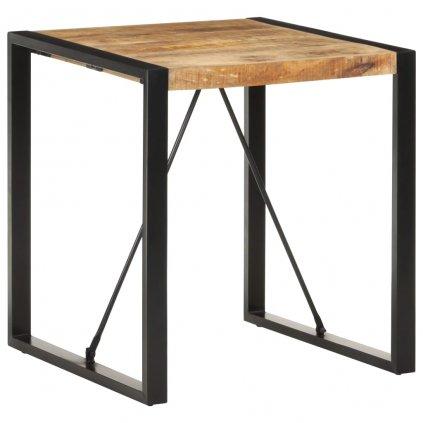 Jídelní stůl Tiburoon - 70x70x75 cm | masivní hrubé mangovníkové dřevo