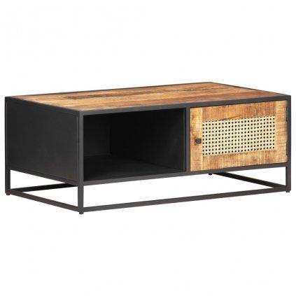 Konferenční stolek Corea - přírodní rákos | 90x50x35 cm