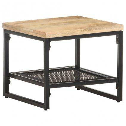 Odkládací stolek Hamden - masivní mangovníkové dřevo | 40 x 40 x 35 cm