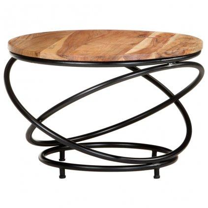 Konferenční stolek Wallis - 60x60x40 cm | masivní akáciové dřevo