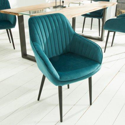 Jídelní židle Riverton - 2 kusy   tyrkysová